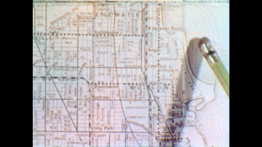 1950s: Close-up of Paper Map  Stock Footage Video (100% Royalty-free)  34215751 | Shutterstock