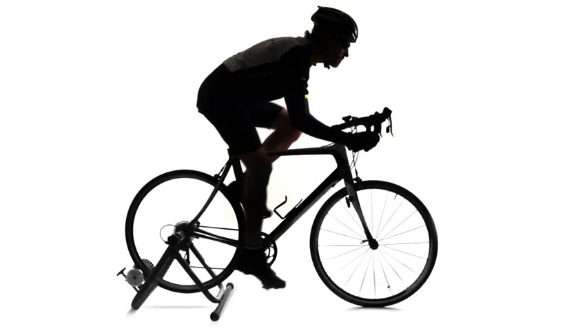 923ac5fec70 Looping Profile Footage of Cyclist Stock Footage Video (100% Royalty ...