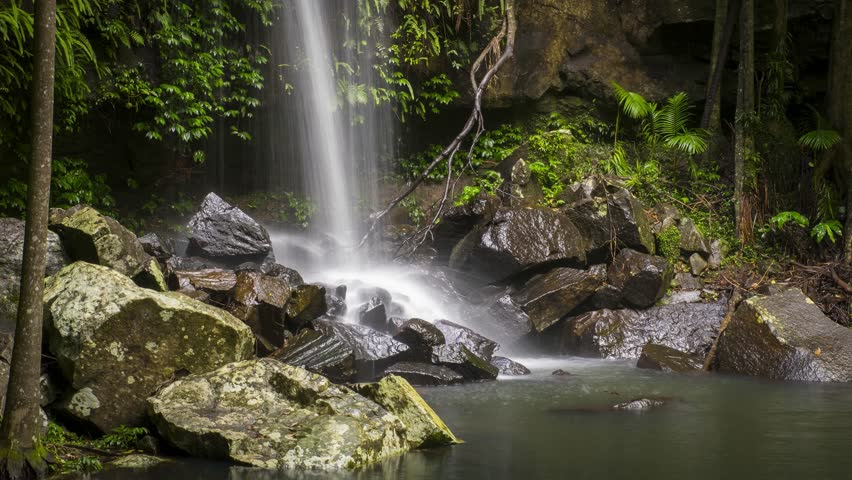 Timelapse of Curtis Falls at Mt Tamborine on the Gold Coast Hinterland.