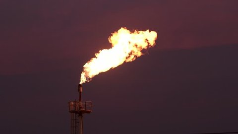 Flaring of dangerous gases in the oil field