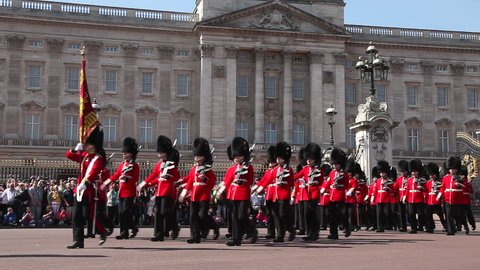 London,England June 12th 2016 :  Changing the Guard at Buckingham Palace London