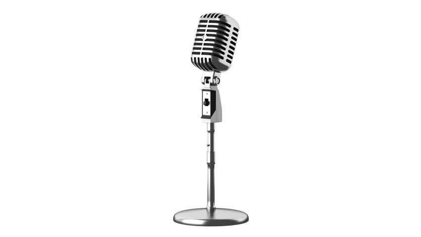 √ Vintage Microphone Stand Vector
