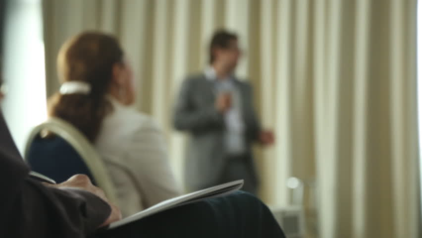 Business People Seminar Conference Meeting Office Training Concept | Shutterstock HD Video #34356031