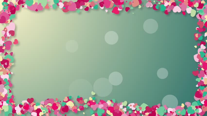 colorful background with heart confetti  stock footage