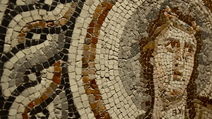 GAZIANTEP, TURKEY - DECEMBER 15, 2017: Zeugma Mosaic Museum, one of the largest mosaic collection in the world.The ancient city of Zeugma is known to have been founded by Alexander the Great in 300 BC