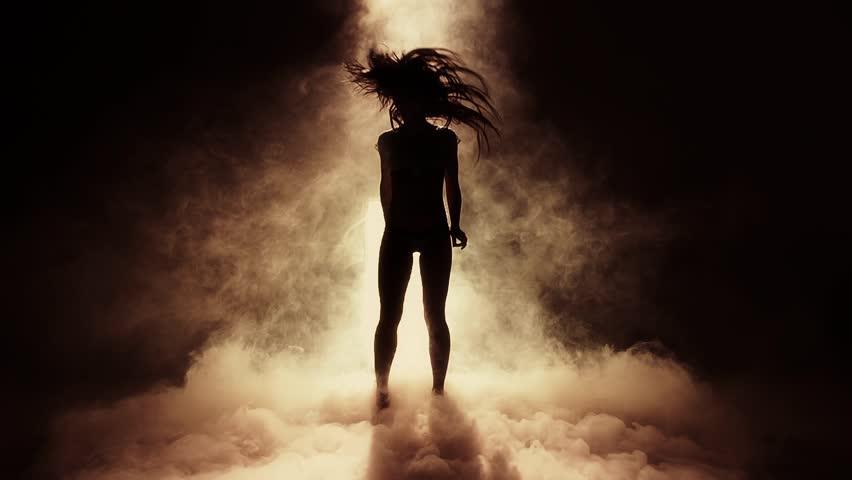 Dancing Female Silhouette - Super Slow Motion