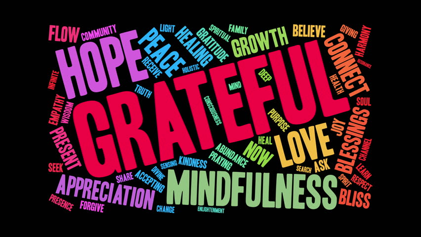 Grateful word cloud on a white background.   Shutterstock HD Video #34408231