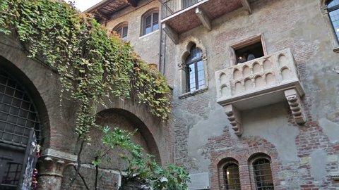 Balcony of Juliet and Romeo in Verona