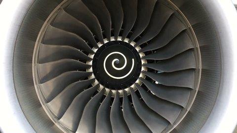 Jet turbine engine of aircraft