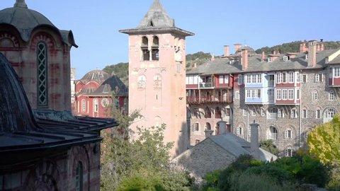 The bell of Vatoupedi monastrery in Mount Athos republic