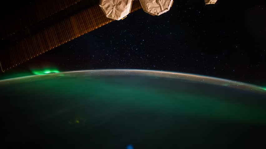 Planet Earth view seen from the International Space Station with Aurora Borealis over the Indian Ocean on June 2017, Time Lapse 4K. Images courtesy of NASA Johnson Space Center.