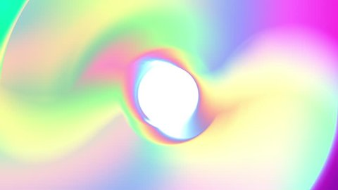 Hologram metallic softened by tender pastels. Seamless background in light neon colors. Holographic neon foil trend 80s, 90s colorful abstract motion graphic design. Seamless loop. Video animation