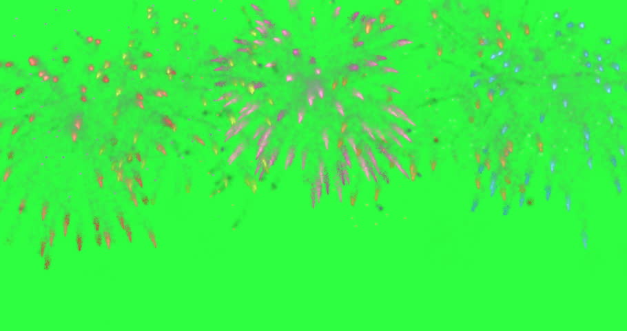 animation modern fireworks background. Footage design for Happy New Year, 4th of july, independence day, victory day or other anniversary days. Animation with alpha matte