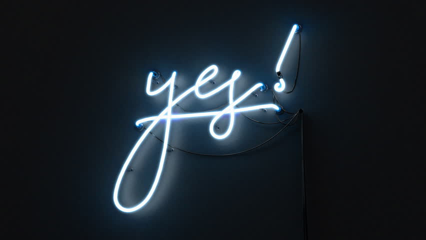 Neon sign of the word 'YES' switches on with a flicker | Shutterstock HD Video #34633591