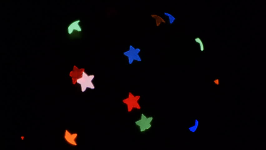 Light Stars Bokeh Christmas lights star overlay background (stars light leaks) for different events and projects