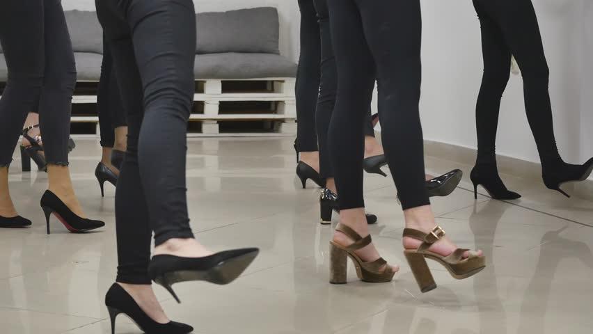 Female legs. young girls study in a model school | Shutterstock HD Video #34675531