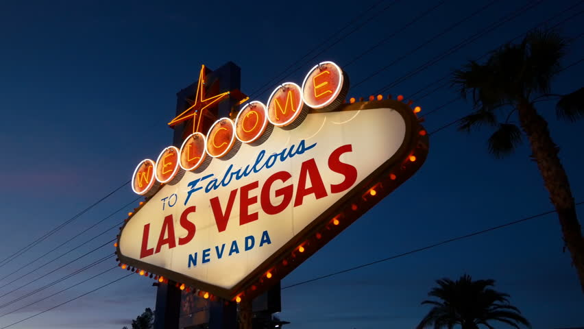 High quality video of welcome to fabulous Las Vegas Sign at night in 4K  | Shutterstock HD Video #34677502