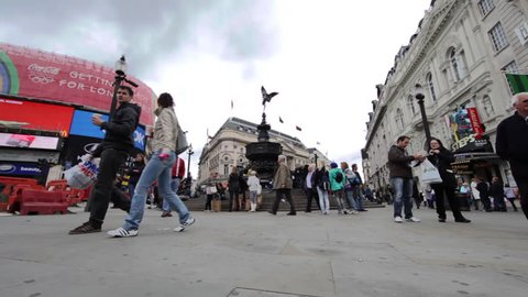 LONDON - OCTOBER 9, 2011: Eros statue in Piccadilly Circus