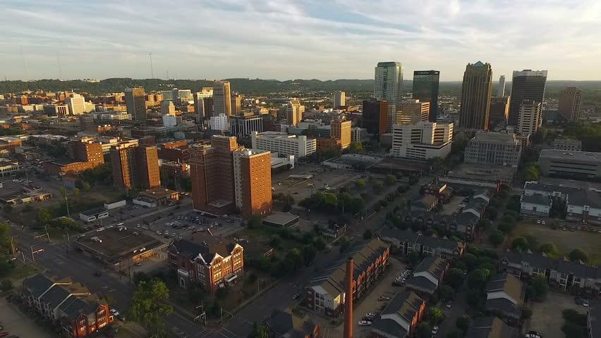 Birmingham Alabama Downtown City Skyline Sunset Southern United States