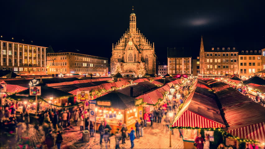 Nuremberg Christmas Market.Nuremberg Christmas Market Christkindlesmarkt Night Stock Footage Video 100 Royalty Free 34711501 Shutterstock