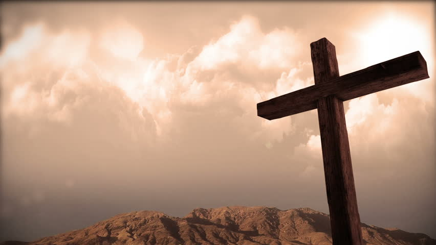The cross subtle clouds stock footage video 3480569 shutterstock wooden christian cross 2 easter hd stock video clip voltagebd Gallery