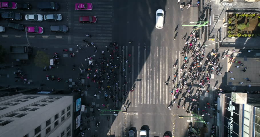 Cruce de personas, Mexico City, Timelapses | Shutterstock HD Video #34765021