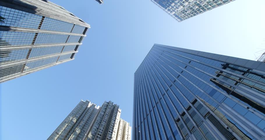 Blue skyscraper from below in rotation | Shutterstock HD Video #34965691