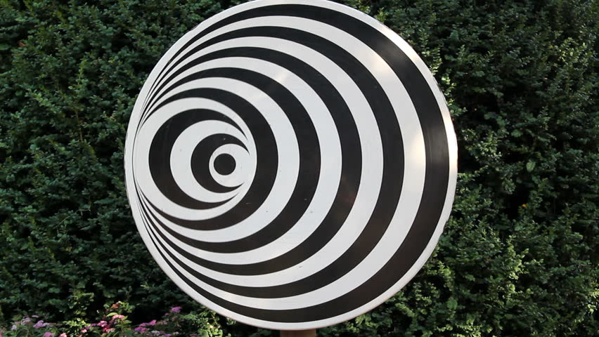 rotating disc showing an optical illusion