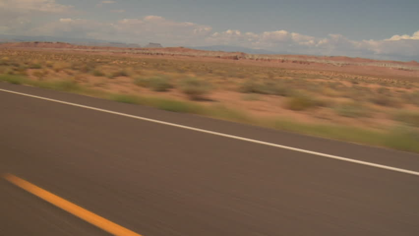 highway driving near Boulder Utah Shaky