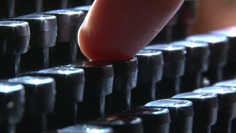 Typewriter, side view