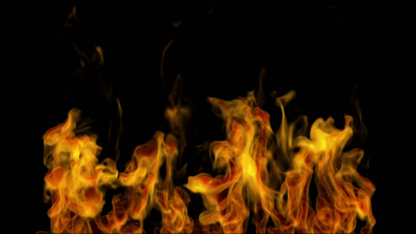 Igniting fire isolated on black background. Alpha-channel included   Shutterstock HD Video #3528098