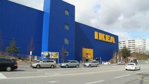 GENEVA - 11 MARCH 2013 : Sequence of few shots of IKEA store in Vernier (Geneva, Switzerland)