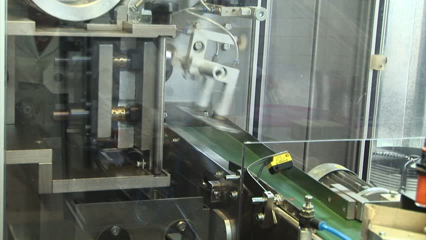Automated production of medicines. packaging for tablets