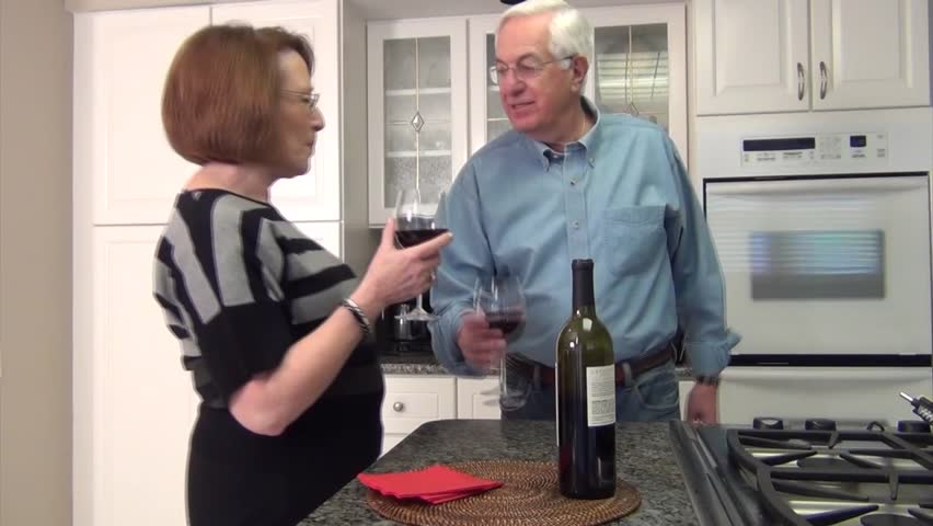 Couple making a toast together