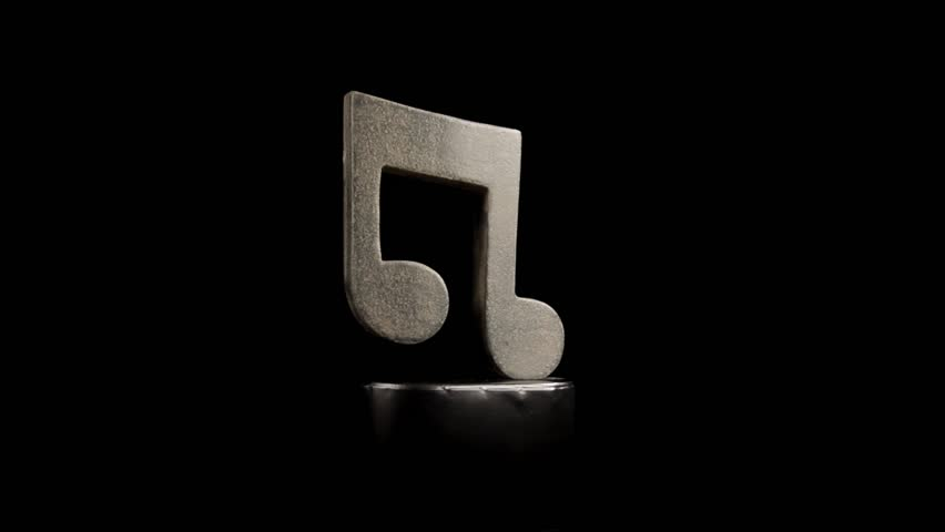 Eighth Note Music Symbol Statue Stock Footage Video 100 Royalty