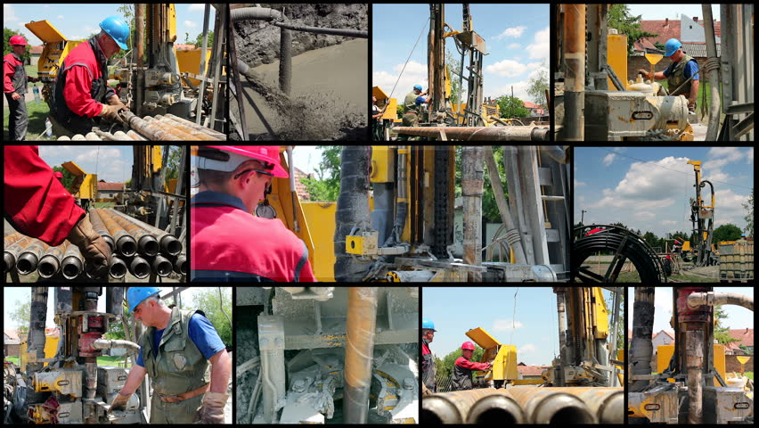 Drilling Rig Workers at Work. Oil and Gas Industry. Power and Energy. Montage collection of clips showing oil workers at work. HD1080p.