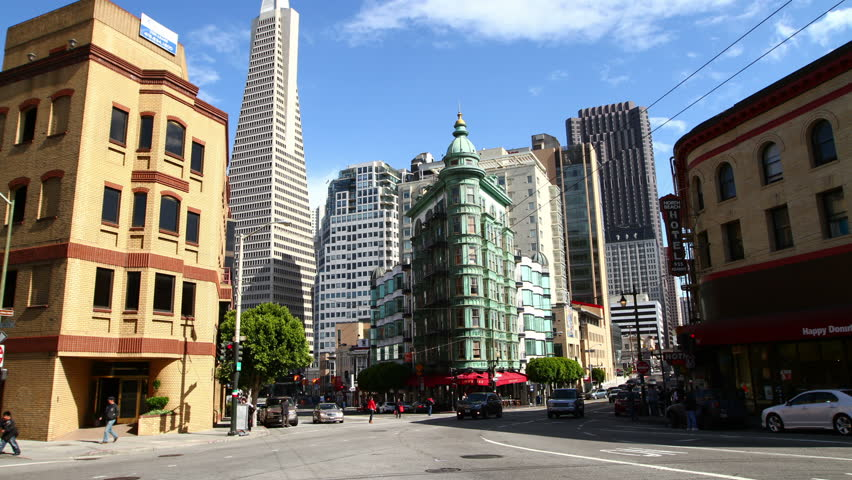 SAN FRANCISCO - MAY 25: Time lapse of San Francisco downtown at daytime, on May 25, 2012 in San Francisco, CA
