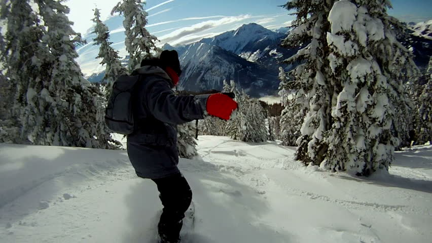 Snowboarding on fresh snow | Shutterstock HD Video #3598961
