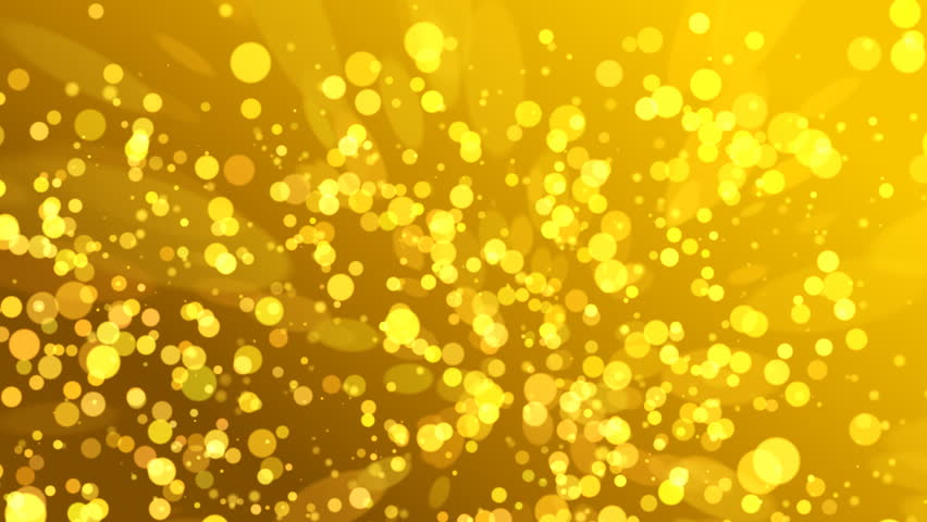 abstract background, yellow  lights, Full HD
