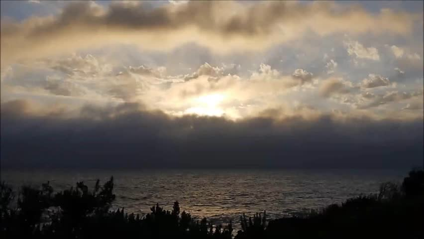 time lapse of clouds above the pacific ocean in Warrnambool, Australia