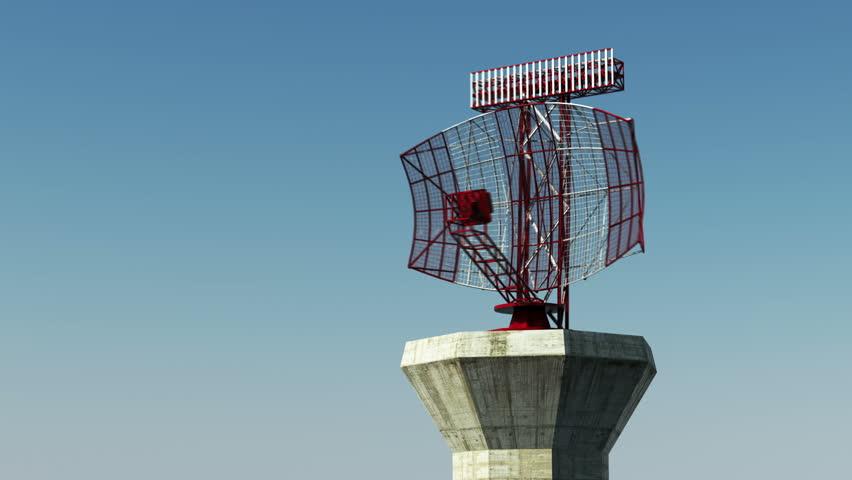 Radar airport loopable animation.