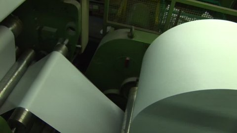 Paper (roll of paper) for a printing press