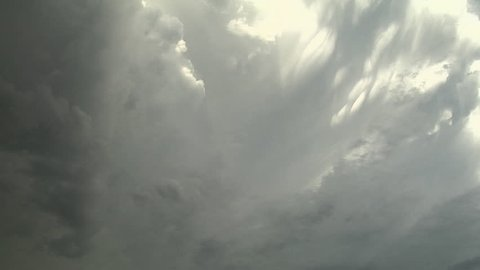 Anvil Dynamics. Looking nearly straight up the side of a supercell anvil