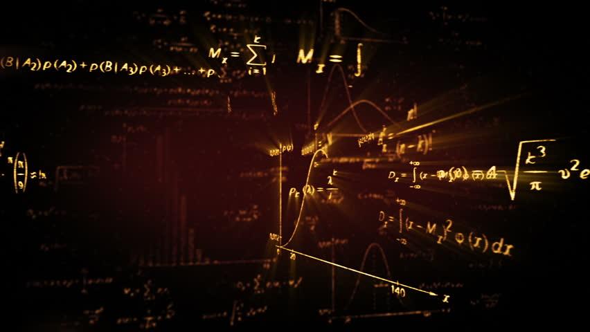 Shining physics maths formulas loop | Shutterstock HD Video #3650627