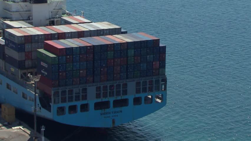 RIJEKA, CROATIA - OCTOBER 23: Container ship Maersk Karachi on line Asia -
