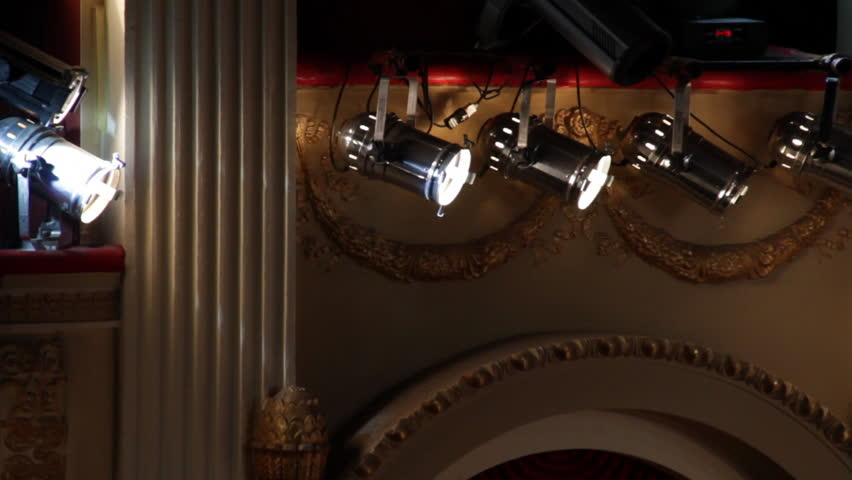 Spotlights lamps light theatrical architecture  | Shutterstock HD Video #3661571