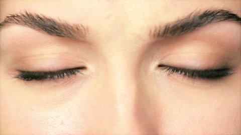 Beauty Macro Close-up eye blinking