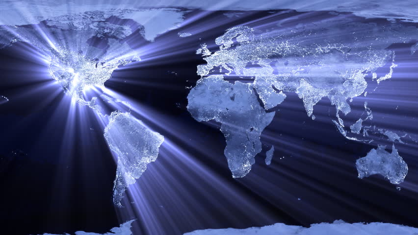 Stock video of world map lights 3667691 shutterstock gumiabroncs Choice Image