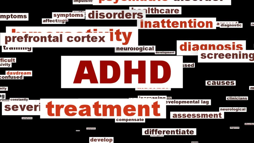 ADHD mental health symbol isolated on white background. Attention deficit hyperactivity disorder conceptual design