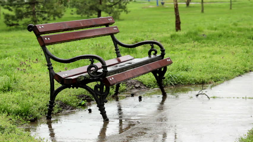 Peachy Raining Park Bench Stock Footage Video 100 Royalty Free 3718151 Shutterstock Ibusinesslaw Wood Chair Design Ideas Ibusinesslaworg